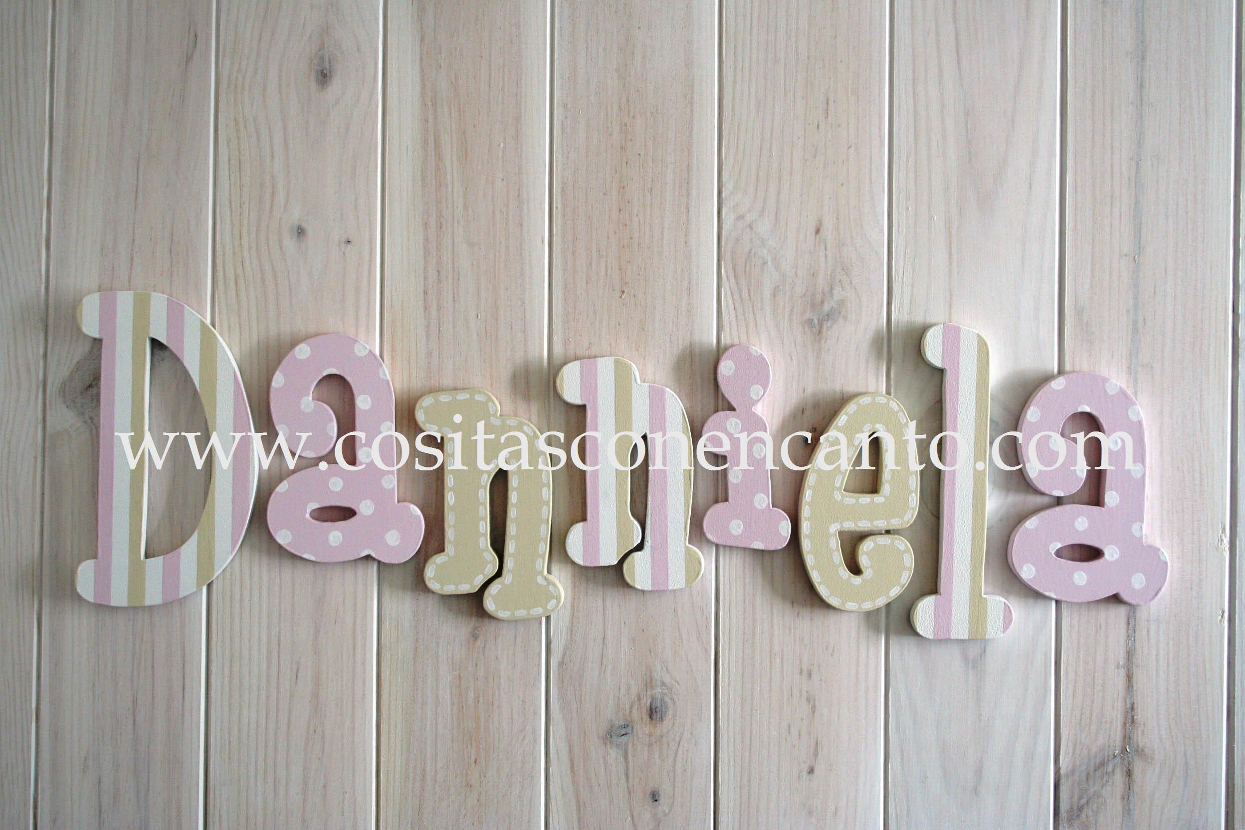 Decorando con letras de madera cositas con encanto - Letras de madera decorativas ...